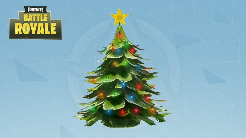Where are the holiday trees in Fortnite?